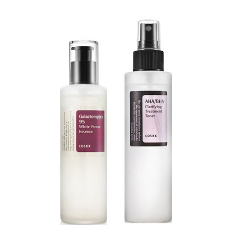 [SET] [Cosrx] AHA BHA Clarifying Treatment Toner + Galactomyces 95 White Power Essence 100ml - Cosmetic Love