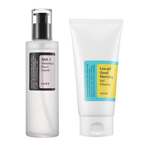 [SET] [Cosrx] Low Ph Good Morning Gel Cleanser150ml + AHA 7 Whitehead Power Liquid 100ml