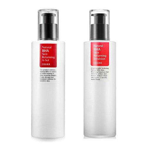 [SET] [Cosrx] Natural BHA Skin Returning A-Sol 100ml + Natural BHA Skin Returning Emulsion 100ml - Cosmetic Love