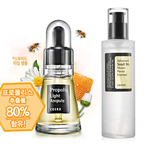 [SET] [Cosrx] Propolis Light Ampule 20ml + Advanced Snail 96 Mucin Power Essence 100ml
