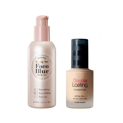 [SET] [Etude House] Double Lasting + Beauty Shot Face Blur SPF33/PA+ 35g