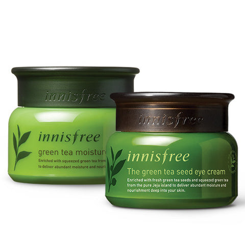 [SET] [Innisfree] Green Tea Moisture Cream 50ml + The Green Tea Seed Eye Cream 30ml