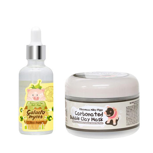 [SET] Milky Piggy Carbonated Bubble Clay Mask 100g + Galactomyces Pure Ample 50ml