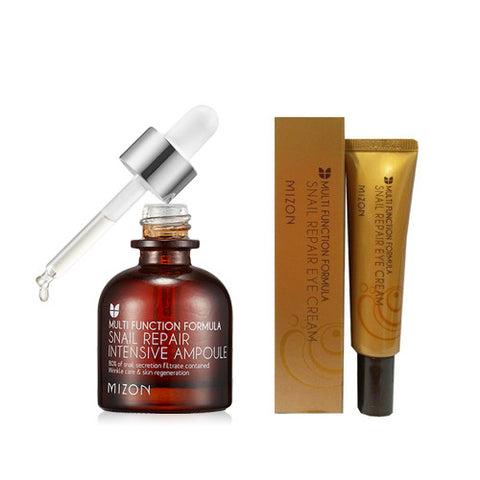 [SET] [Mizon] Snail Repair Eye Cream(tube) 15ml + [Mizon] Snail Repair Intensive Ampoule 30ml - Cosmetic Love