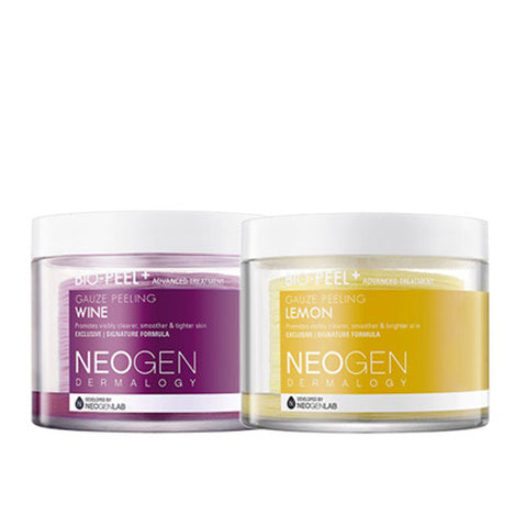 [SET] [Neogen] Bio Peel Gauze Peeling Wine 30ea + Lemon 30ea - Cosmetic Love