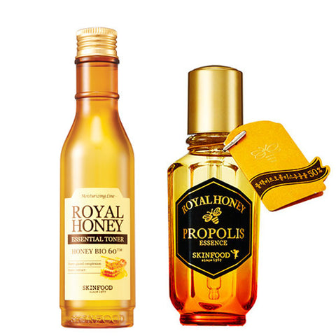 [SET] [Skin Food] Royal Honey Essential Toner 180ml + Royal Honey Propolis Essence 50ml - Cosmetic Love