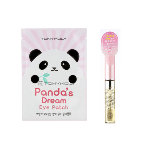 [SET] [Tonymoly] Pandas Dream Eye Patch (5sheets) + [Etude House] My Lash Serum 9g - Cosmetic Love