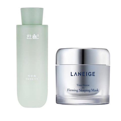 [SET][Hanyul]Pure Artemisia Watery Calming Toner+[Laneige]Time Freeze Firming Sleeping Mask