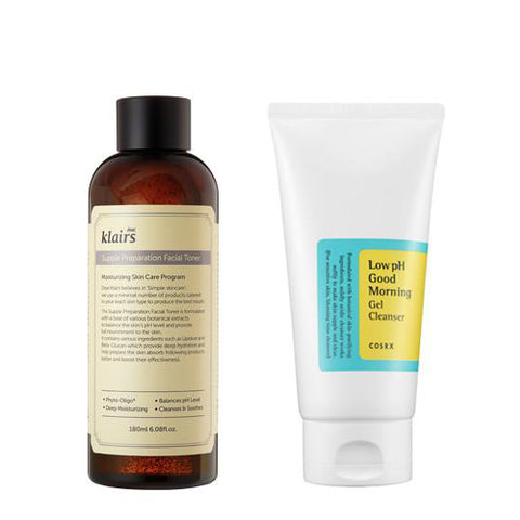 [SET][Klairs] Supple Preparation Facial Toner 180ml+[Cosrx] Low Ph Good Morning Gel Cleanser 150ml