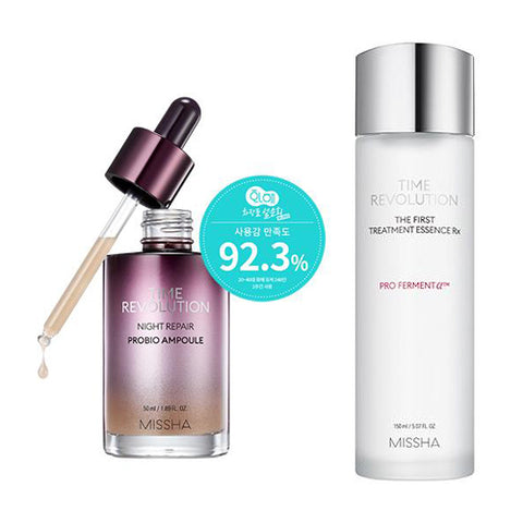 [SET][Missha] Time Revolution Night Repair Probio Ampoule 50ml+The First Treatment Essence RX 150ml