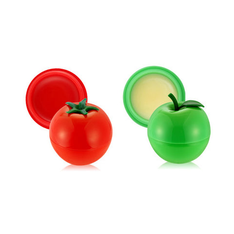[SET] [Tonymoly] Mini Cherry Tomato Lip Balm + Mini Green Apple Lip Balm - Cosmetic Love