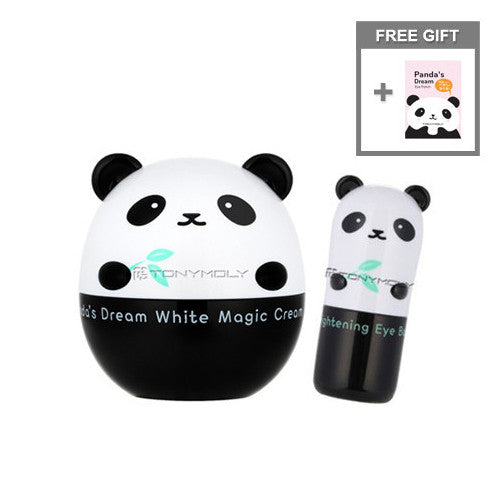 [SET][Tonymoly] Panda's Dream White Magic Cream 50g + Brightening Eye Base 9g + Free Gift Eye Patch - Cosmetic Love