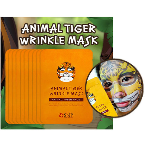 [SNP] Animal Tiger Wrinkle Mask 25ml * 10ea - Cosmetic Love