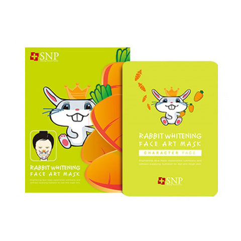 [SNP] Rabbit Whitening Face Art Mask (10EA) - Cosmetic Love
