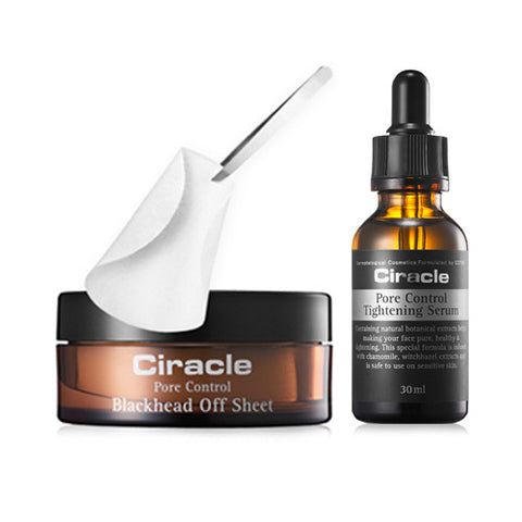 [SET] [Ciracle] Pore Control Blackhead Off Sheet + Pore Control Tightening Serum 30ml - Cosmetic Love
