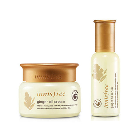 [SET][Innisfree] Ginger Oil Serum 50ml + Cream 50ml - Cosmetic Love