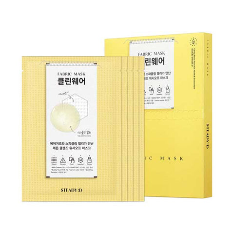 [STEADY:D] Fabric Mask Clean Wear 27ml x 5 Sheets SET