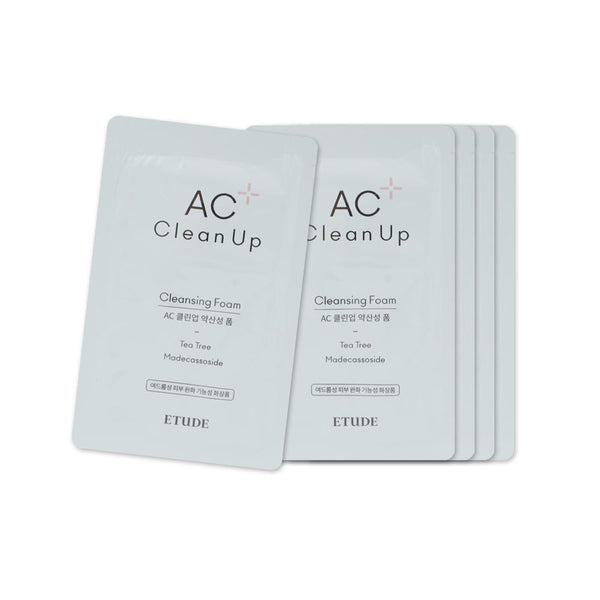 [Sample] [Etude House] AC Clean Up Cleansing Foam X 5PCS