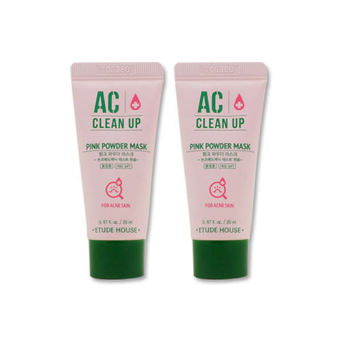 [Sample] [Etude House] AC Clean Up Pink Powder Mask 20ml x 2PCS - Cosmetic Love