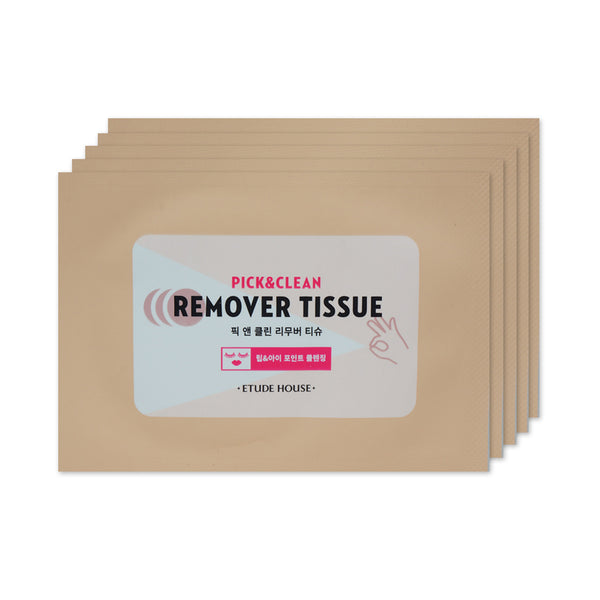 [Sample] [Etude House] Pick & Clean Remover Tissue x 5PCS