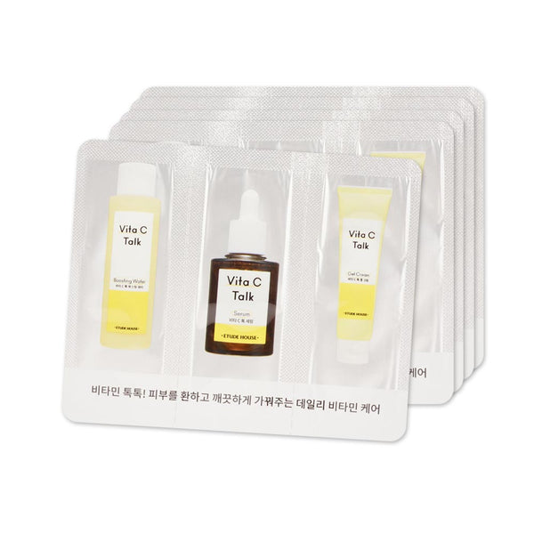 [Sample] [Etude House] Vita V Talk Care #Gel Cream #Serum #Boosting Water X 5PCS