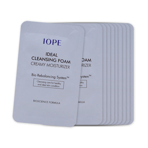 [Sample] [IOPE] Ideal Cleansing Foam Creamy Moisturizer x 10PCS - Cosmetic Love