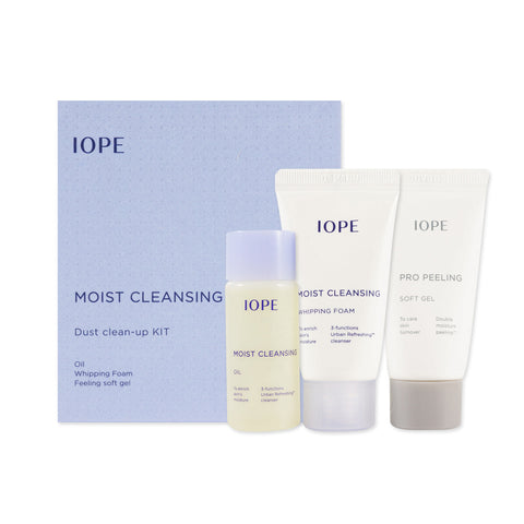 [Sample] [IOPE] Moist Cleansing Clean up Kit (3Items)