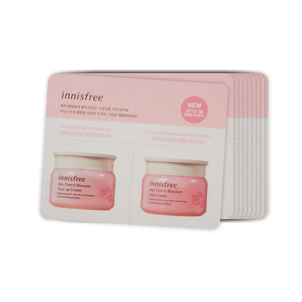 [Sample] [Innisfree] Jeju Cherry Blossom Tone Up Cream & Jelly Cream x 10PCS