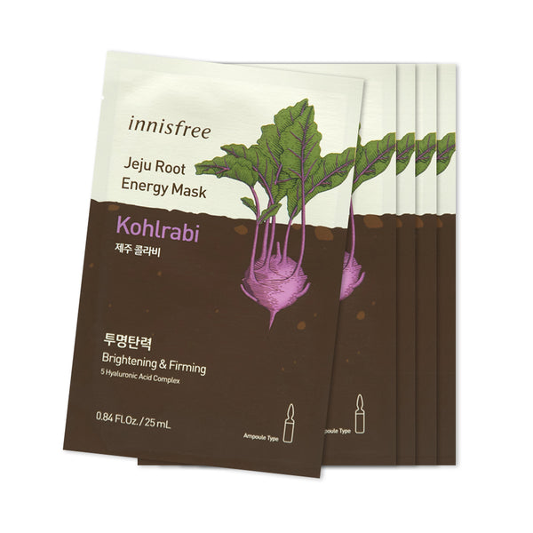 [Sample] [Innisfree] Jeju Root Energy Mask #Kohlrabi X 5PCS