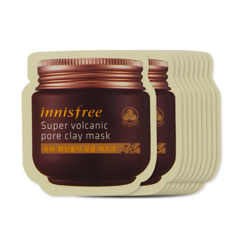 [Sample] [Innisfree] Super Volcanic Pore Clay Mask x 10PCS - Cosmetic Love