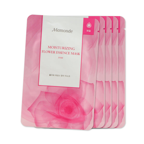 [Sample] [Mamonde] Flower Essence Mask # Rose- Mositurizing x 5PCS - Cosmetic Love