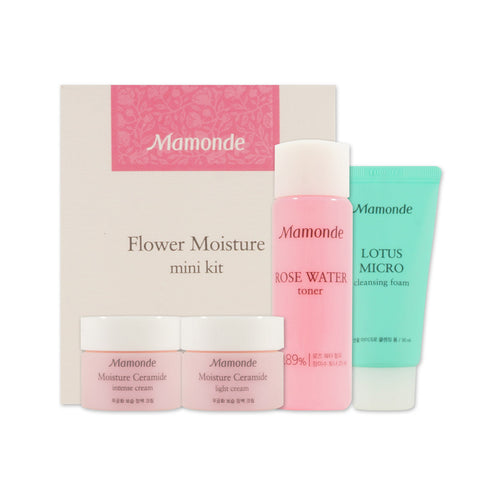 [Sample] [Mamonde] Flower Moisturizing Mini Kit (4 Items)