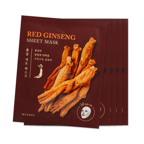 [Sample] [Missha] Red Ginsaeng Sheet Mask x 5PCS