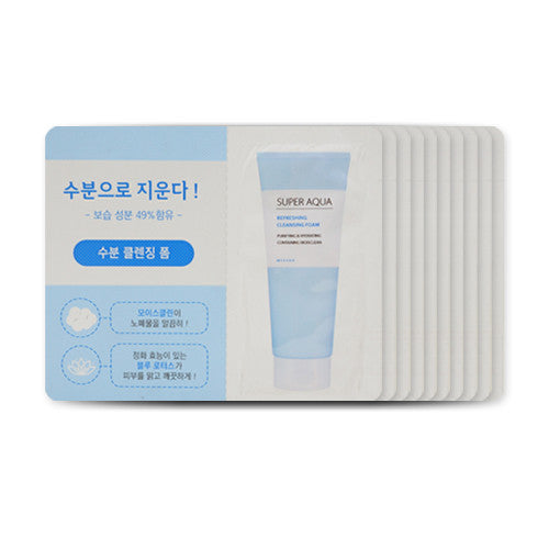 [Sample] [Missha] Super Aqua Refreshing Cleansing Foam x 10PCS - Cosmetic Love