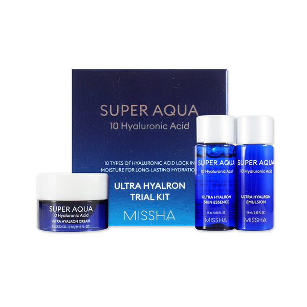 [Sample] [Missha] Super Aqua Ultra Hyalron Kit (3 Items)