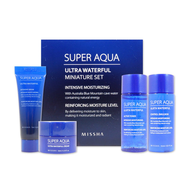 [Sample] [Missha] Super Aqua Ultra Waterful Miniature Set (4 Items) - Cosmetic Love