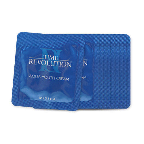 [Sample] [Missha] Time Revolution Aqua Youth Cream(Renewal) x 10PCS - Cosmetic Love