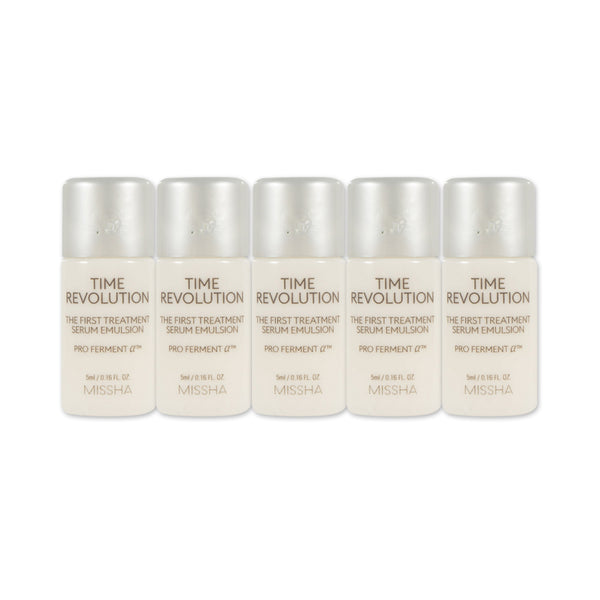 [Sample] [Missha] Time Revolution The First Treatment Serum Emulsion 5ml x 5PCS