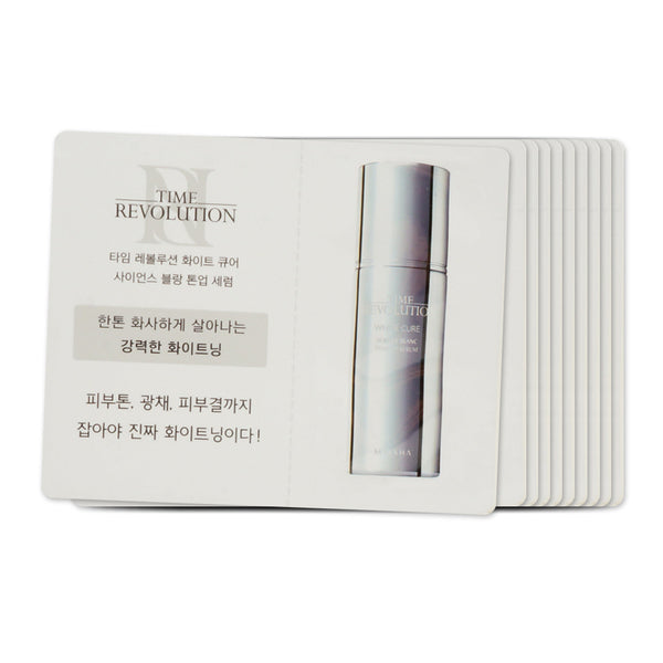 [Sample] [Missha] Time Revolution White Cure Blanc Tone Up Serum x 10PCS - Cosmetic Love