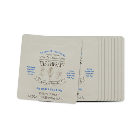 [Sample] [The Face Shop] The Therapy Anti-aging No Shine Hydrating Cream x 10PCS - Cosmetic Love