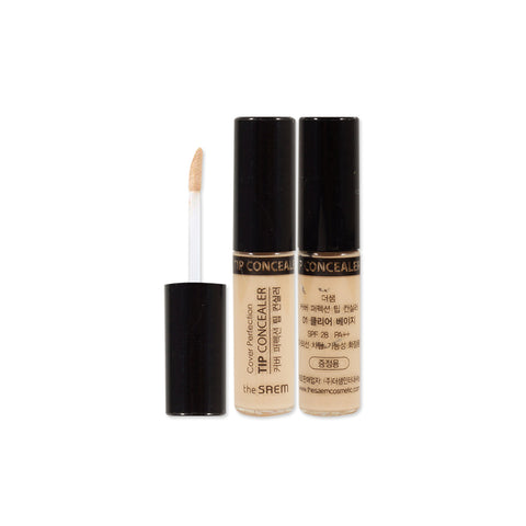 [Sample] [The Saem] Cover Perfection Tip Concealer 01 Clear Beige x 2PCS