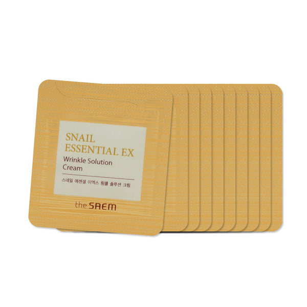 [Sample] [The Saem] Snail Essential EX Wrinkle Solution Cream x 10PCS - Cosmetic Love