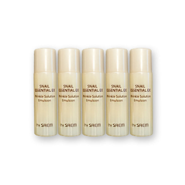 [Sample] [The Saem] Snail Essential EX Wrinkle Solution Emulsion 5ml x 5PCS