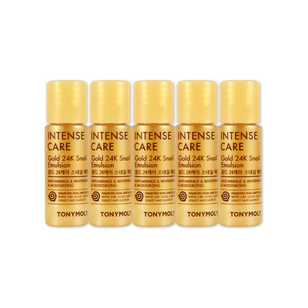 [Sample] [Tonymoly] Intense Care Gold 24K Snail Emulsion x 5PCS
