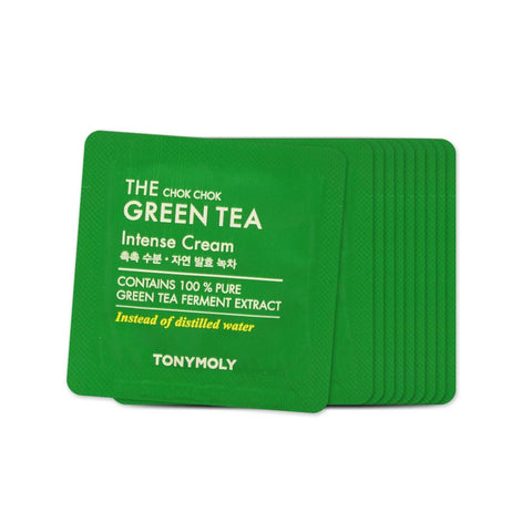 [Sample] [Tonymoly] The Chok Chok Green Tea Intense Cream X 10PCS