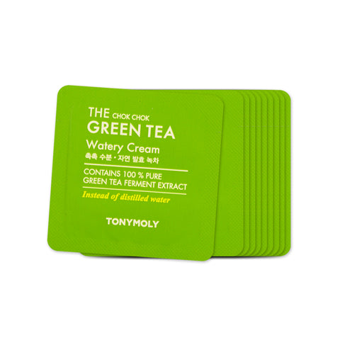 [Sample] [Tonymoly] The Chok Chok Green Tea Watery Cream x 10PCS