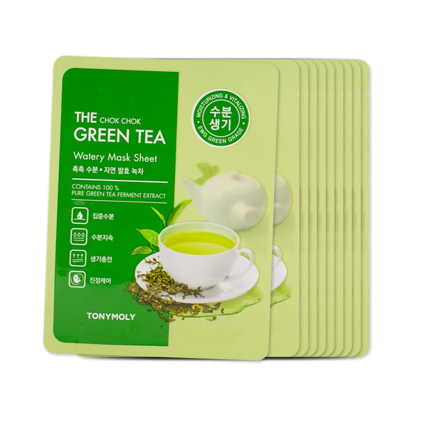 [Sample] [Tonymoly] The Chok Chok Green Tea Watery Mask Sheet x 10PCS