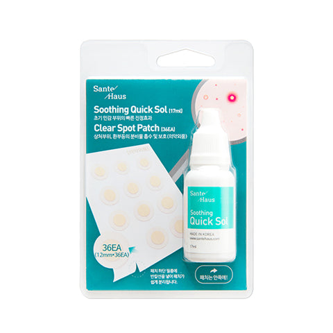 [Sante Haus] Soothing Quick Sol (17ml) + Clear Spot Patch (36EA)