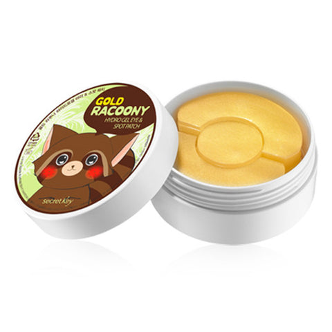 [Secret Key] Gold Racoony Hydro Gel Eye & Spot Patch 90P(Eye60P & Spot30P) - Cosmetic Love