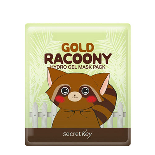 [Secret Key] Gold Racoony Hydro Gel Mask Pack - Cosmetic Love